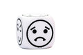 Single Emoticon Dice With Sad Expression Sketch Stock Images - 45138874