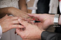 Hands And Wedding Rings Royalty Free Stock Images - 45141659