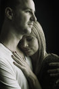 Lovers Hug, Safety, Black And White Photo Stock Images - 45151574
