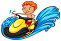 A Simple Coloured Sketch Of A Man Doing Watersport Stock Images - 45152724