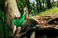Portrait Of Romantic Woman At Fairy Forest Stock Image - 45153481