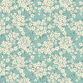 Blue Background With Cute Little Flowers Royalty Free Stock Photos - 45154938