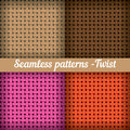 Weaving, Basket. Set Of Seamless Abstract Vector Stock Photography - 45160442
