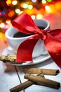 A Cup Of Coffee With A Bow Stock Images - 45163034
