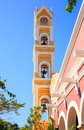 Bell Tower Of Spanish Church, Mexico Stock Photos - 45173093