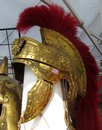 Red Gold Roman Soldier S Helmet Royalty Free Stock Images - 45177609