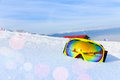 View Of Ski Mask With Mountain S Reflection Royalty Free Stock Photos - 45178878