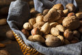 Assortment Of Whole Raw Mixed Nuts Stock Photography - 45181982