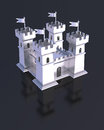 Fortress Miniature Silver Castle Isolated Royalty Free Stock Images - 45182489