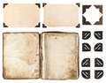 Aged Book, Photo Album, Vintage Paper Card, Photo Corner Royalty Free Stock Images - 45196049
