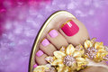 Two-tone Pedicure. Royalty Free Stock Photo - 45196435