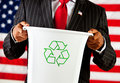 Politician: Holding Recycle Bin Royalty Free Stock Photos - 45199148