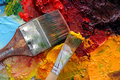 Artists Oil Painting Palette Stock Photography - 4520442