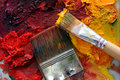 Artists Oil Painting Palette Stock Photography - 4520482