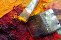 Artists Oil Painting Palette Stock Photo - 4520560