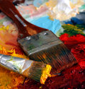 Artists Oil Painting Palette Royalty Free Stock Photo - 4520605