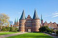 Holsten Gate In Lubeck Old Town, Germany Stock Photo - 45217580