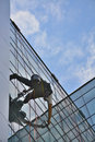 Window Cleaners On Office Building, Photo Taken 20.05.2014 Royalty Free Stock Photo - 45238245