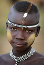 Young Mursi Boy At A Ceremony In South Omo, Ethiopia Royalty Free Stock Photo - 45241035
