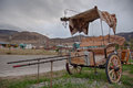 Antique Carriage In El Chalten Near Fitz Roy, Argentina Royalty Free Stock Photo - 45241435