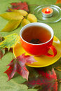 Cup Of Tea And A Candle Royalty Free Stock Photography - 45244167