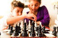 Kids Playing Chess Royalty Free Stock Photography - 45250767