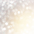White Silver And Gold Abstract Bokeh Lights. Defocused Background Stock Images - 45266604