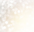 White Silver And Gold Abstract Bokeh Lights. Defocused Background. Stock Photo - 45266700