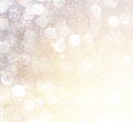 White Silver And Gold Abstract Bokeh Lights. Defocused Background Stock Photography - 45266712