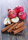 Apples And Cinnamon Stock Photography - 45267572