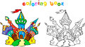 Funny Colorful Castle Coloring Book Royalty Free Stock Photos - 45270538