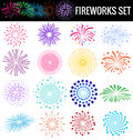 Colorful Fireworks On White Background For Party Cerebation Royalty Free Stock Photography - 45270867