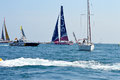 The All Woman Team SCA And The Spanish Police - All Female Sailing Crew Royalty Free Stock Image - 45274516