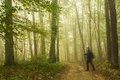 Hiking In Forest Royalty Free Stock Image - 45277676