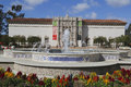 San Diego Museum Of Art And Plaza De Panama Fountain In Balboa Park In San Diego Royalty Free Stock Image - 45289636