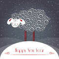 New Years Greeting Card. Symbol Of 2015 Year Stock Image - 45290811