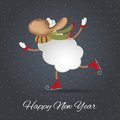 New Years Greeting Card. Symbol Of 2015 Year Royalty Free Stock Images - 45290849