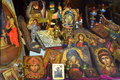 Orthodox Icons Shop Greece Royalty Free Stock Photography - 45295727