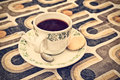 Retro Styled Image Of A Cup Of Coffee Royalty Free Stock Photos - 45298708