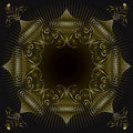 Gold Ornate Swirl Frame Royalty Free Stock Images - 4532209