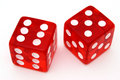 Red Tricky Dice Stock Photos - 4537263