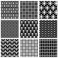 Set Of Grate Seamless Patterns With Geometric Figures Stock Photos - 45301293