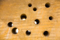 Wall With A Plurality Of Holes Round Stock Photo - 45301790