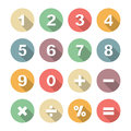 Number Long Shadow Flat Royalty Free Stock Images - 45305079