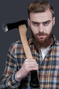 Just Me And My Axe. Stock Image - 45308011