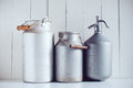 Milk Cans  And A Siphon Stock Photos - 45308543