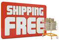 Free Shipping 3d Text Royalty Free Stock Images - 45308909