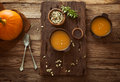Pumpkin Soup Royalty Free Stock Images - 45318799
