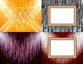 Set Of Blank Frame On A Color Wall Lighting, Royalty Free Stock Photos - 45320798