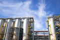Chemical Industrial Plant Against The Blue Sky Stock Images - 45325974